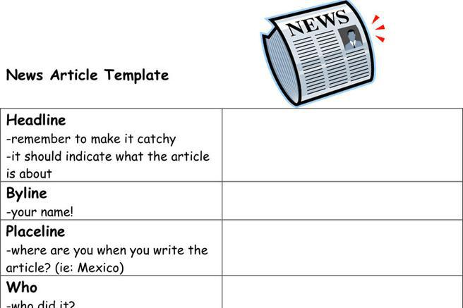 Newspaper Article Template | Download Free & Premium Templates