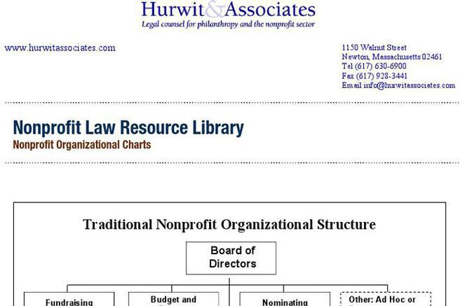 Non-Profit Organizational Chart | Download Free & Premium