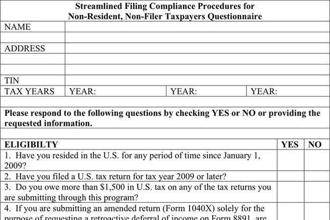 Questionnaire Samples