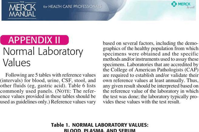 normal lab values chart canada pdf