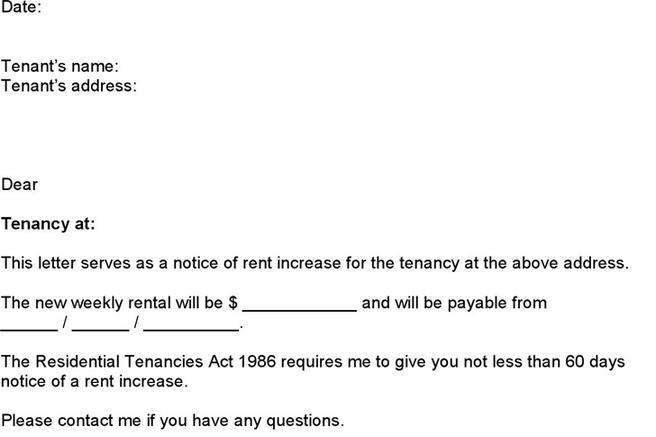 Notice Of Rent Increase  Download Free  Premium Templates Forms