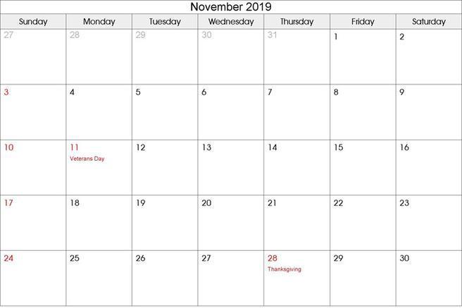 2019 Calendar Download Free Amp Premium Templates Forms