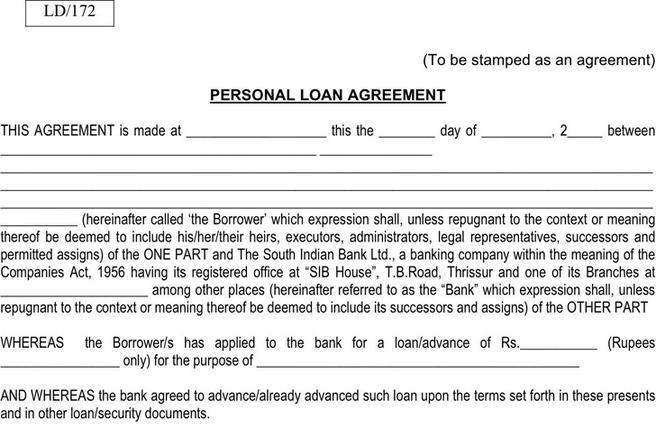 Personal Loan Agreement Form | Download Free U0026 Premium Templates, Forms U0026  Samples For JPEG, PNG, PDF, Word And Excel Formats