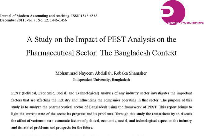 pestle analysis on bangladesh free term paper 101 120 Contamination and ecological risk assessment of trace elements in sediments of the rivers of sundarban mangrove forest, bangladesh preparation and analysis for.