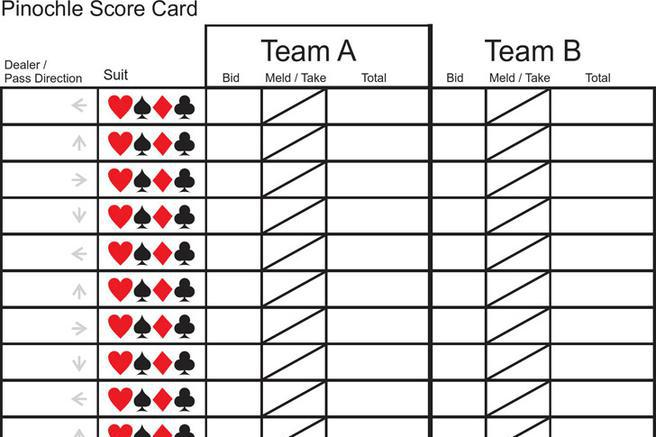 Pinochle Score Sheet  Download Free  Premium Templates Forms