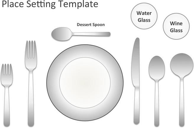 Place Setting Template  Download Free  Premium Templates Forms