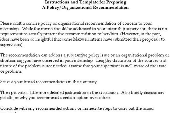 Sample Policy Memo Memorandum Report Sample BestImagesOf