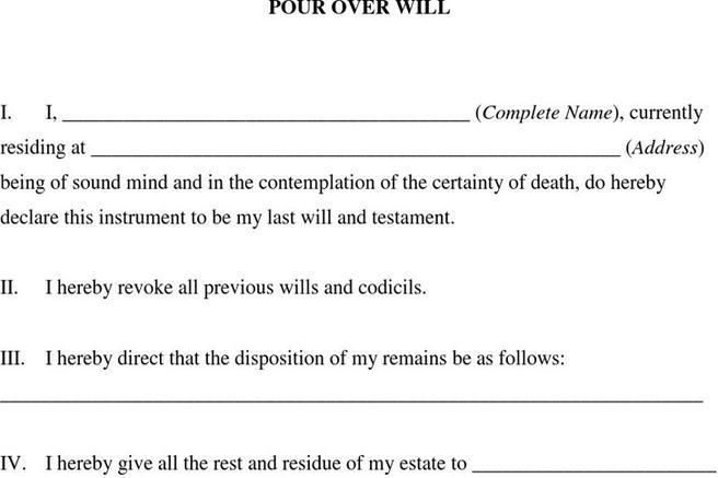 Legal Templates – Will Form