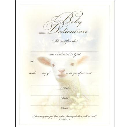 Share Stock Certificate Template · Baby Dedication Certificate Template