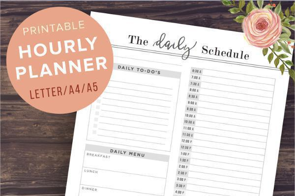 Hourly Planner Templates