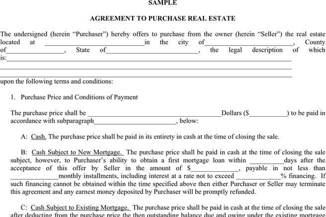 Purchase Agreement Template | Download Free & Premium Templates