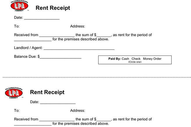 Rent Receipt Template | Download Free & Premium Templates, Forms