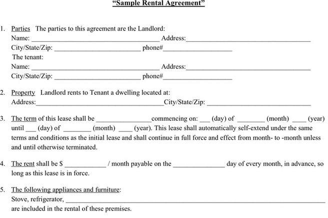 Rental Agreement Template  Download Free  Premium Templates