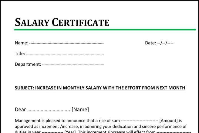 Employer Form – Pay Increase Form
