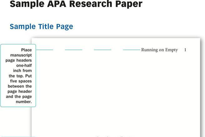 apa layout of research paper