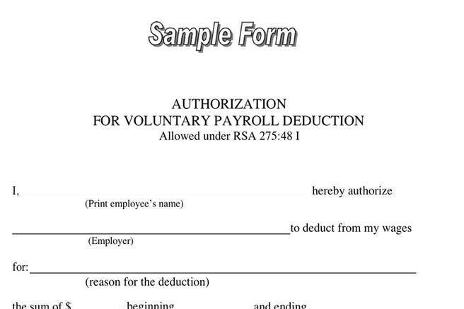 Payroll Deduction Form  Download Free  Premium Templates Forms