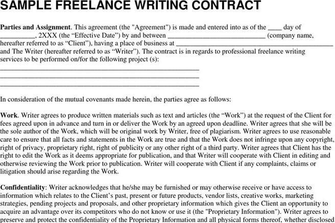 Behavior Contract Template · Freelance Contract Template