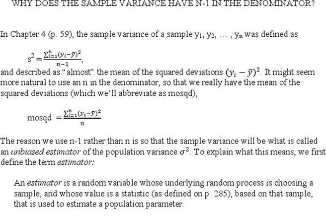 Sample Variance