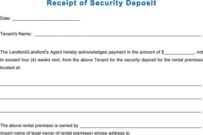 Receipt Template – Legal Receipt of Payment