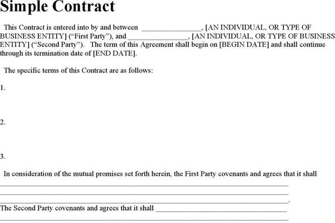 Contract Template | Download Free & Premium Templates, Forms