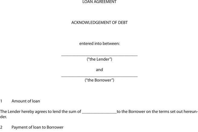 Loan Form – Simple Loan Form