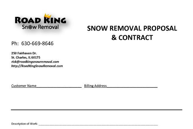 Snow Plowing Contract Templates | Download Free & Premium ...