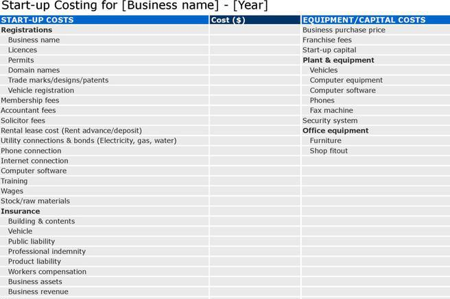 6 Business Plan Template Free Download