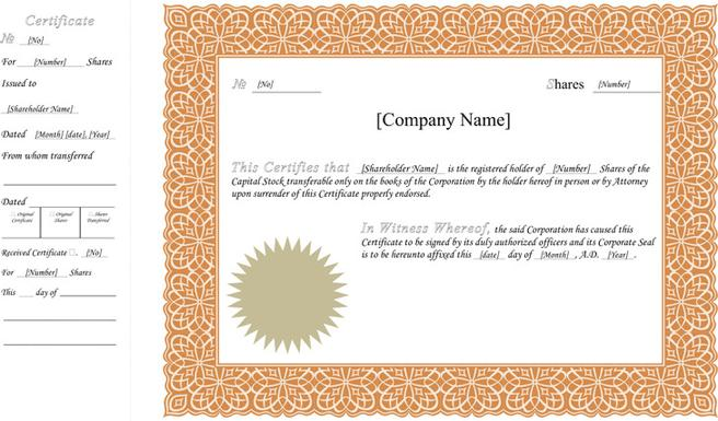 Certificate template download free premium templates forms certificate of completion template stock certificate template yadclub Choice Image