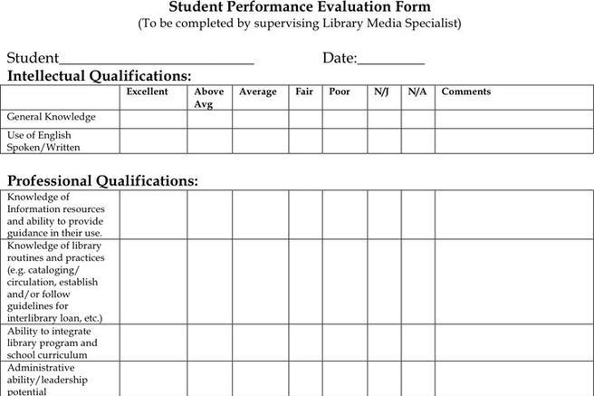 Student Evaluation Form  Download Free  Premium Templates Forms