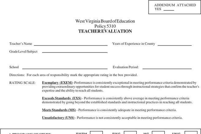 Teacher Evaluation Form  Download Free  Premium Templates Forms