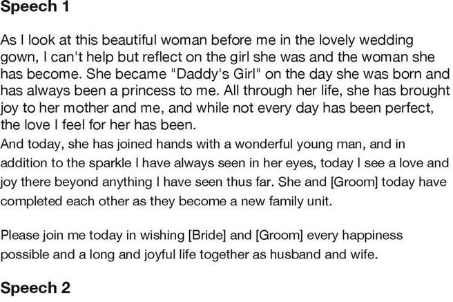 Father Of The Bride Speech Examples  Download Free  Premium