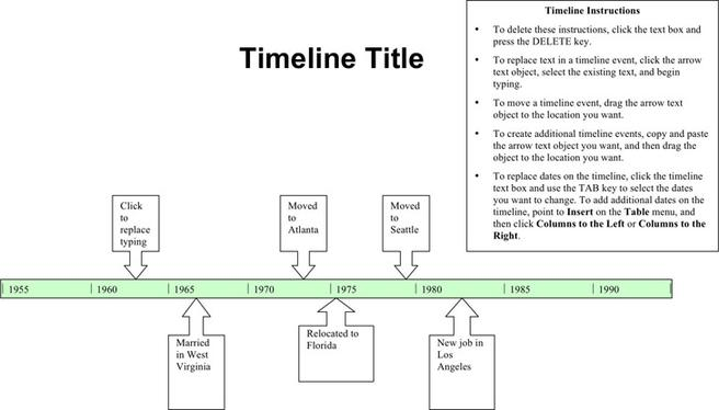 Timeline Template  Download Free  Premium Templates Forms