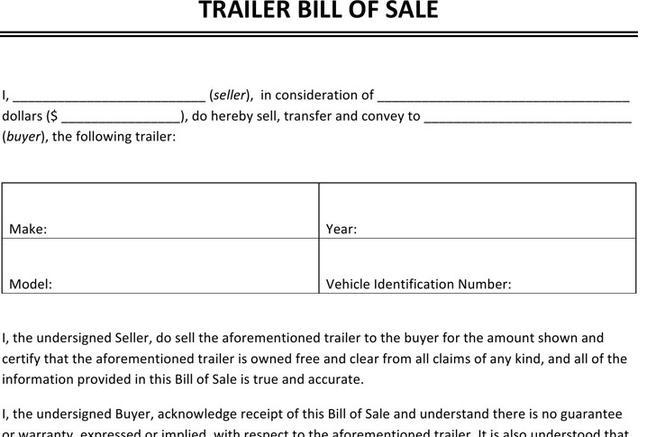 Bill Of Sale Form | Download Free & Premium Templates, Forms