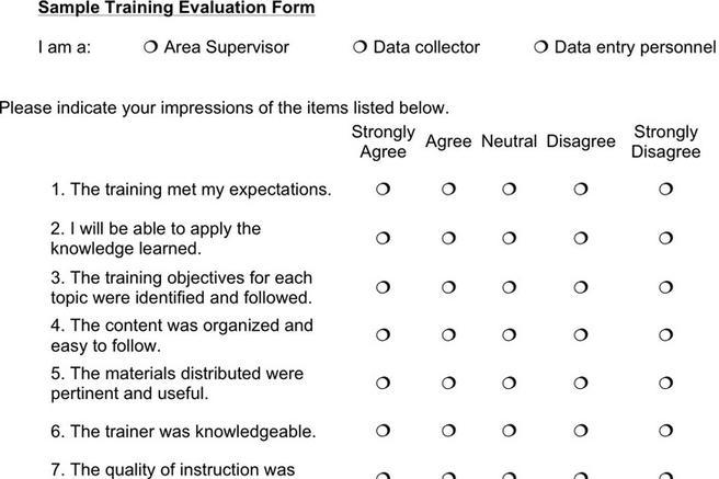 Evaluation Forms For Trainers  FiveoutsidersCom