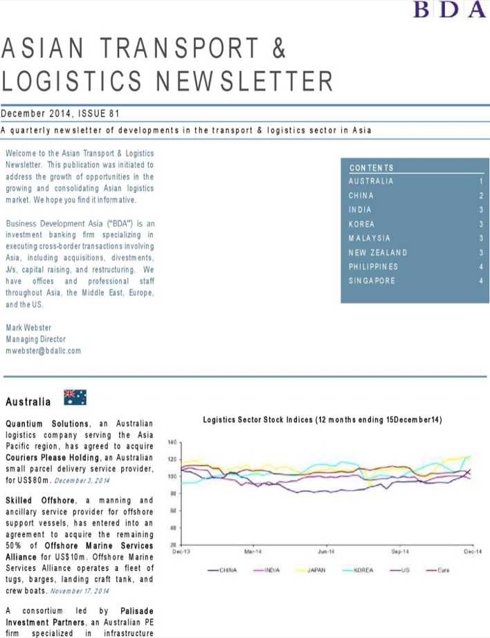 asian transport logistics newsletter download free premium templates forms samples for