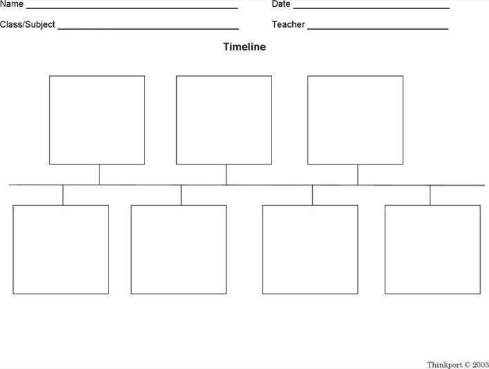 Blank Timeline Pdf  Download Free  Premium Templates Forms