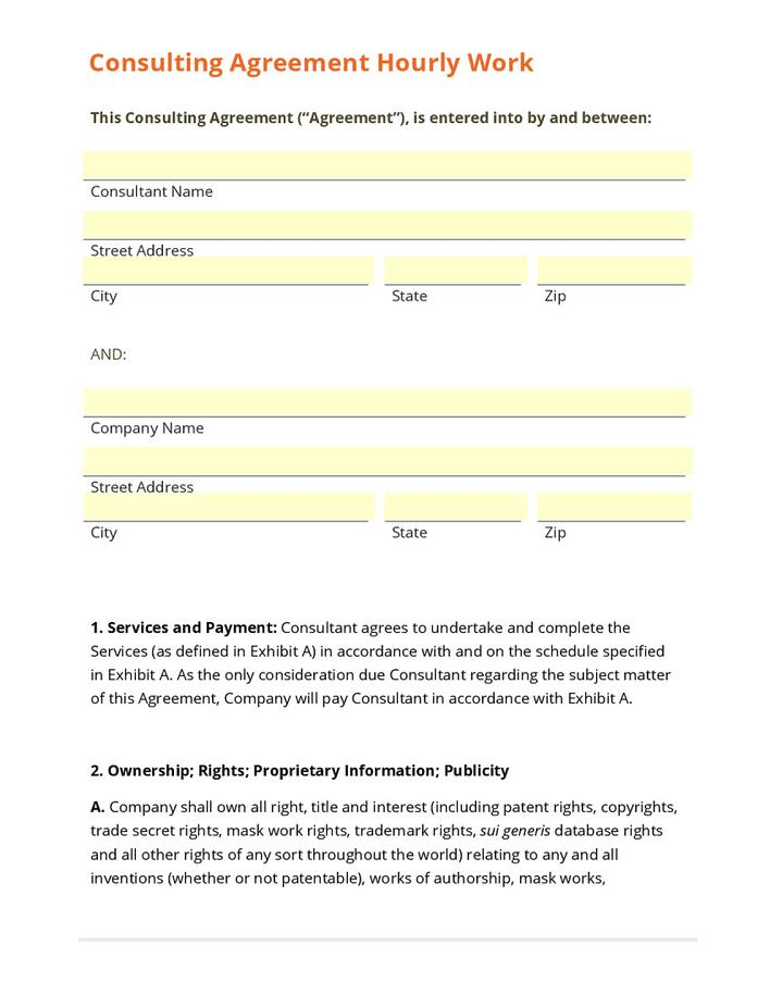 Business Sample Consulting Agreement Contract Pdf Example