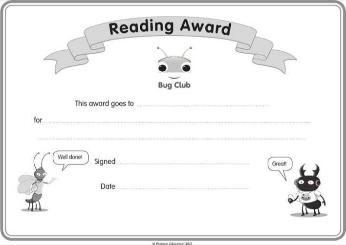 Childrens Reading Certificate Template Download Free Premium