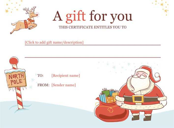 Christmas Gift Certificate Template Download Free Premium