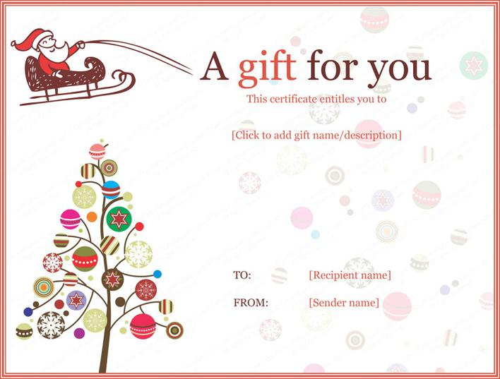 christmas gift certificate template free download 2 download free