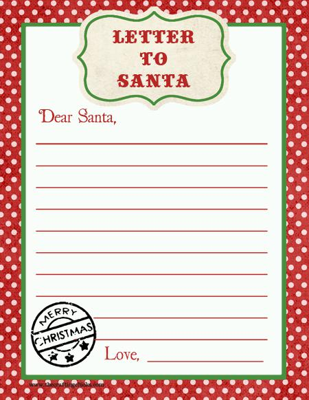Christmas Letter Template For Kids Download Download Free