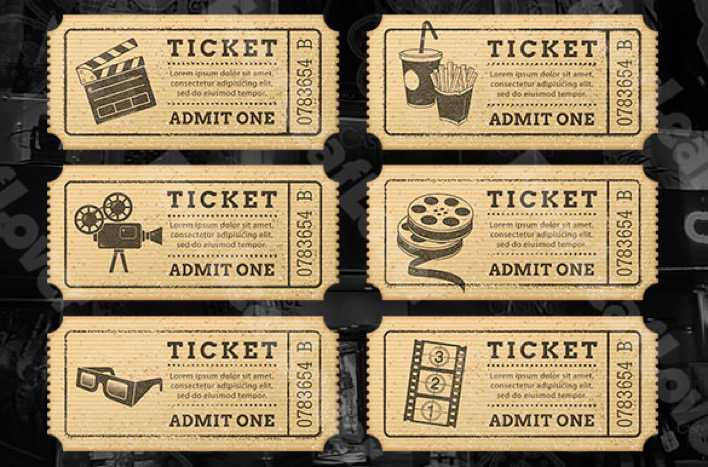 Cinema Drink Ticket Template Download Free Amp Premium