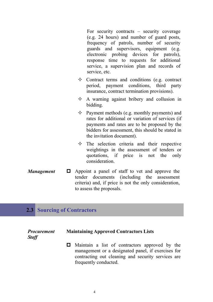 Cleaning And Security Contract Pdf Format Free Template