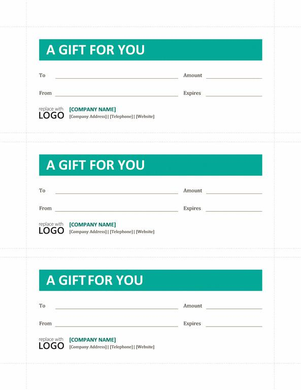 Customizable Gift Certificate Template Word Doc Download Free