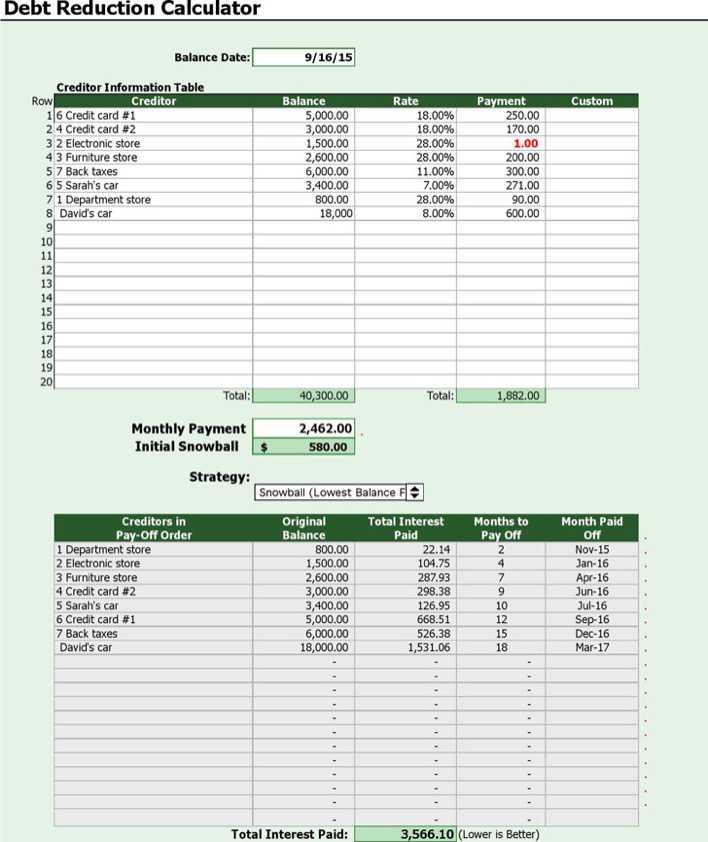 pay down debt calculator