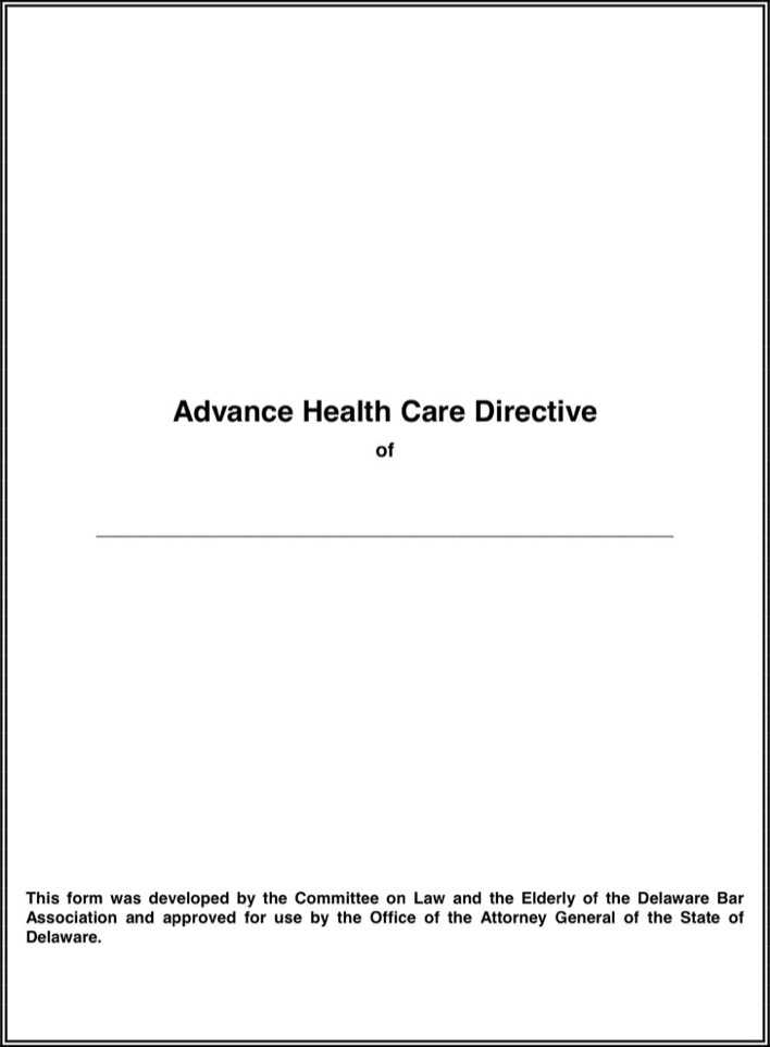 Advance Medical Directive Form Templates to Download