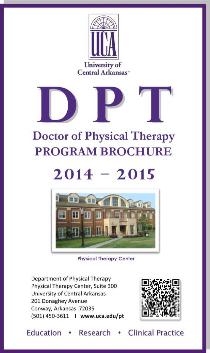 Doctor of physical therapy program - Doctor Of Physical Therapy Program Brochure Page 1