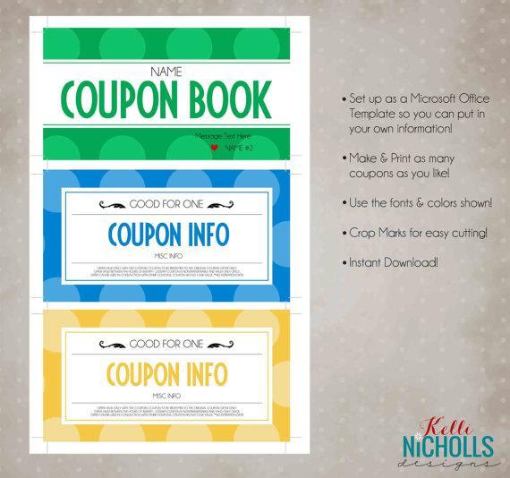 Editable Sample Coupon Book Template Page 1