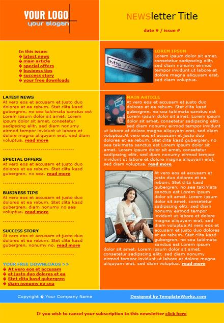 email newsletter template free download download free premium