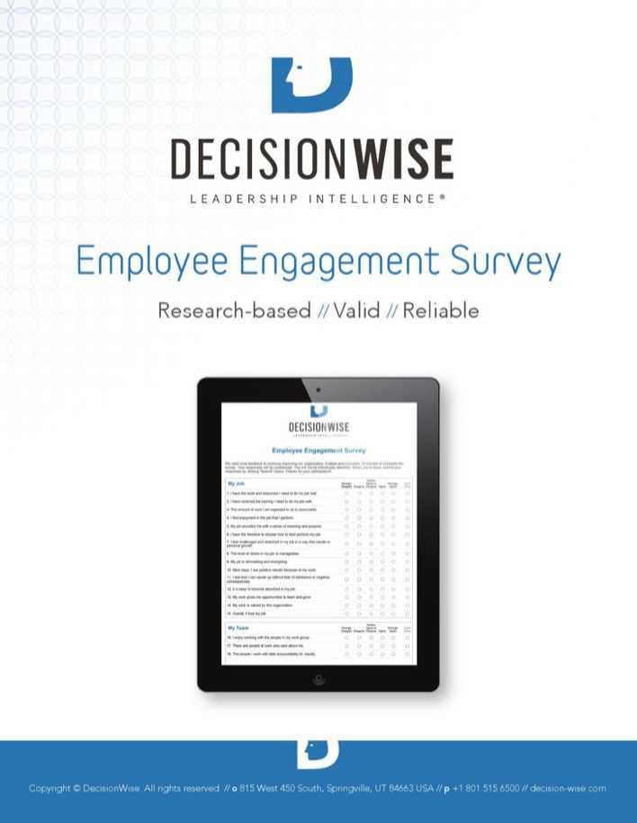 employee engagement survey template pdf
